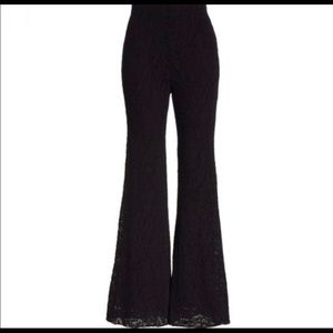 Free people black high waisted bell bottoms pants.